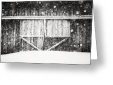 The Snowy Barn II Greeting Card