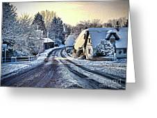 The Snowy Cottages Greeting Card
