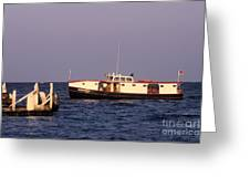 The Sonny S Ferry Docking At Middlebass Island Greeting Card