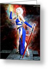 The Sorceress And The Sword Greeting Card