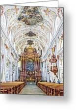 Lucerne's Jesuit Church  Greeting Card