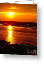 The Sound Of Sunset Greeting Card