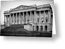The South End In Black And White Greeting Card
