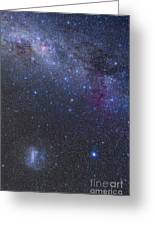The Southern Sky And Milky Way Greeting Card