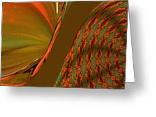 The Space Between Two Forces Abstract Greeting Card