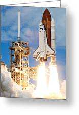 The Space Shuttle Discovery And Its Seven Greeting Card