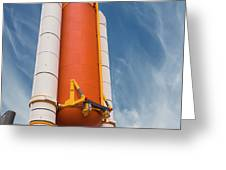 The Space Shuttle Launch System Greeting Card by Jim Thompson