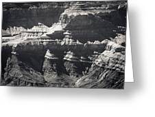 The Spectacular Grand Canyon Bw Greeting Card