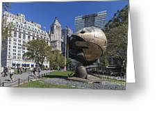 The Sphere Batterie Park Nyc Greeting Card