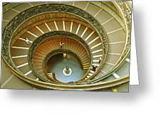 The Spiral Staircase Greeting Card