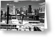 The Spirit Of America And Cincinnati  Greeting Card