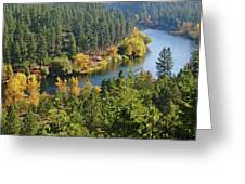 The Spokane River  Greeting Card