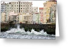 The Spume At Malecon Greeting Card