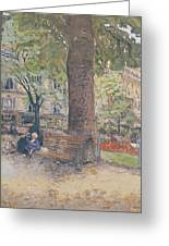 The Square At Vintimille Greeting Card by Edouard Vuillard