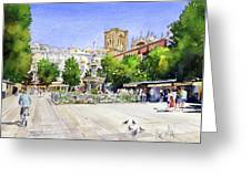 The Square In Summer Greeting Card