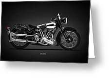 The Ss100 Vintage Motorcycle Greeting Card