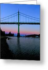 The St Johns Bridge Greeting Card