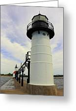 The St. Joseph Lighthouses In Michigan Greeting Card