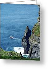The Stack And The Jack B Cliffs Of Moher Ireland Greeting Card
