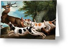 The Stag Hunt Greeting Card