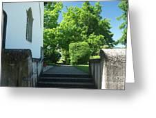 the stairs behind the Gottstatt Monastery church Greeting Card