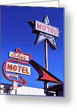 The Star Motel Greeting Card