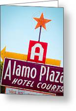 The Star Of Alamo Plaza Greeting Card