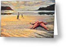 The Starfish Greeting Card by Susan Jenkins