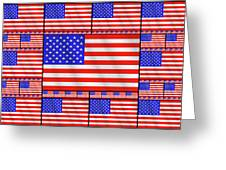 The Stars And Stripes 2 Greeting Card