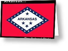 The State Flag Of Arkansas Greeting Card