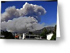 The Station Fire Panoramic Greeting Card