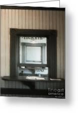 The Stationmaster's Window Greeting Card