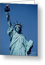 The Statue Of Liberty Greeting Card by American School