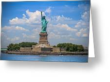 The Statue Of Liberty In New York City Greeting Card