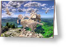 The Statue Of The Rock Greeting Card