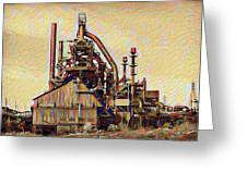 The Steel Stacks Watercolor Greeting Card