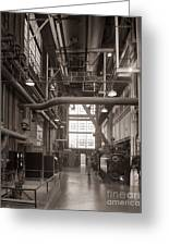 The Stegmaier Brewery Boiler Room Wilkes Barre Pennsylvania 1930's Greeting Card