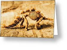 The Stegosaurus Art In Form Greeting Card