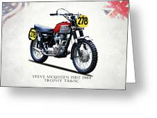 The Steve Mcqueen Isdt Motorcycle 1964 Greeting Card