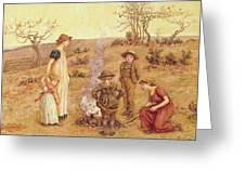 The Stick Fire Greeting Card