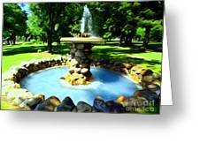 The Stone Fountain Greeting Card