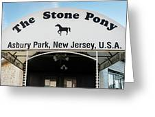 The Stone Pony, Asbury Park Greeting Card