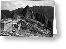 The Stonework Of Machu Picchu Greeting Card