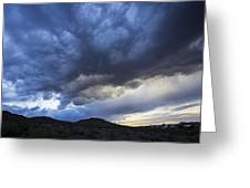 The Storm Above Greeting Card
