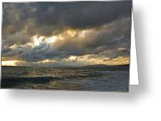 The Storm Comes Greeting Card