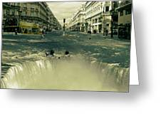 The Street Fall Greeting Card