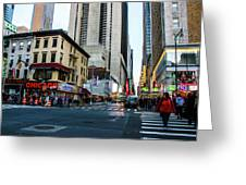 The Streets Of New York Greeting Card