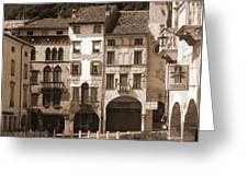 The Streets Of Vittorio Veneto Greeting Card