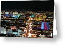 The Strip At Las Vegas,nevada Greeting Card