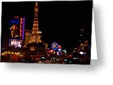 The Strip At Night 1 Greeting Card